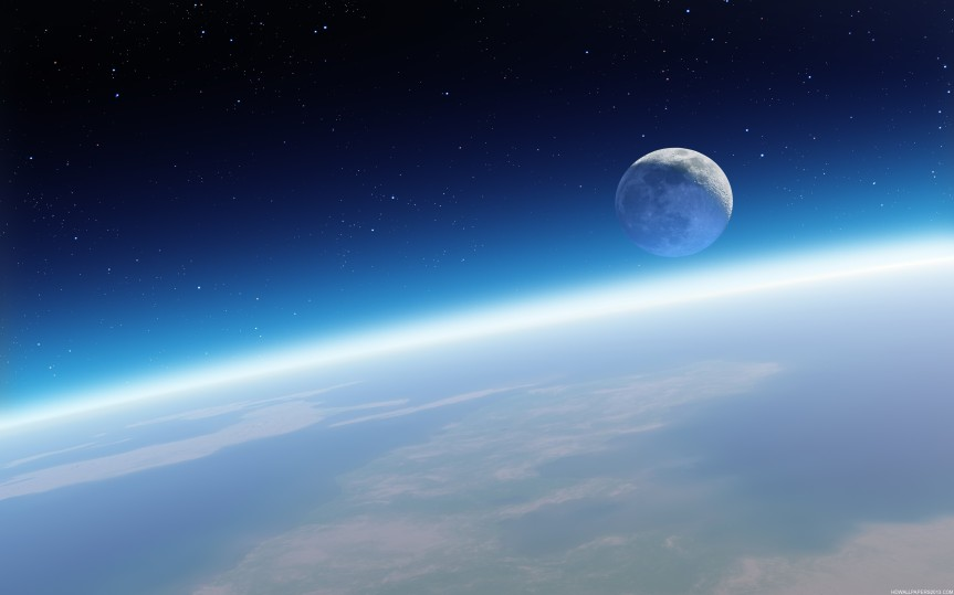 A-view-of-the-Moon-from-the-Earths-atmosphere